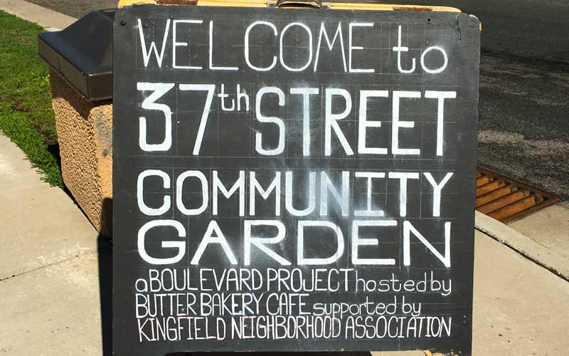 Community garden at butter