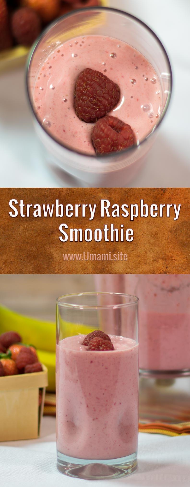 Strawberry Raspberry Smoothie Pinterest