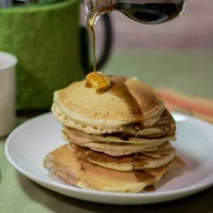 Buttermilk Pancakes with Maple Syrup