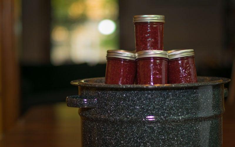 Raspberry jam all done