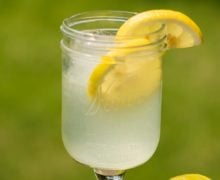 Lemonade In Glass Close Up