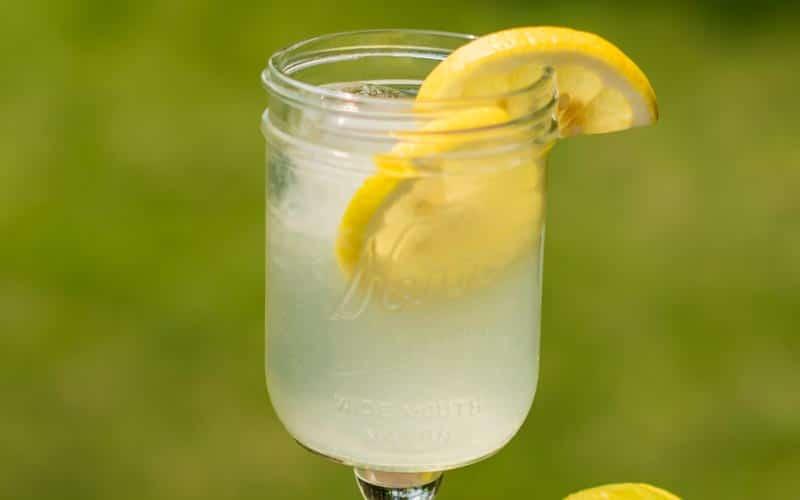 Lemonade In Glass Close Up