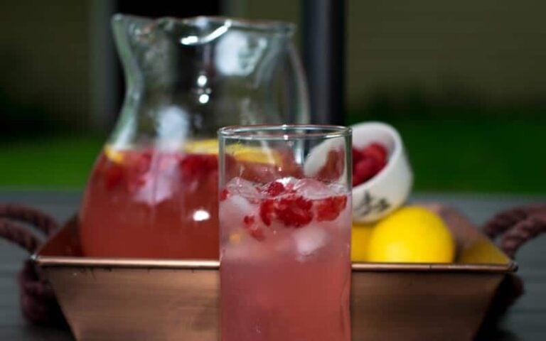Raspberry Lemonade In Glass