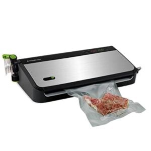 FoodSaver FM2435 ECR Vacuum Sealing System With Bonus Handheld Sealer And Starter Kit, Silver