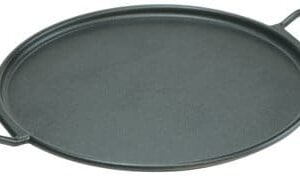 Lodge Mfg P14P3 Cast Iron Pizza/Bake Pan, Pre Seasoned, 14 In. Diam.