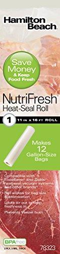 Hamilton Beach NutriFresh Heat Vacuum Sealer, 7 Roll Combo Pack (78340)