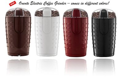 Ovente CG225 Electric Grinder with Stainless Steel Blades for Coffee Beans, Spices, Nuts, Grains
