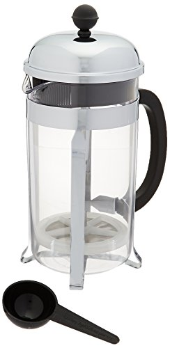 Bodum Chambord 8 Cup Shatterproof French Press Coffeemaker, Chrome, 1.0 Liter, 34 Ounce
