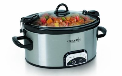 Crock-Pot SCCPVL605-S 6-Quart Programmable Cook38; Carry Oval Slow Cooker, Stainless Steel