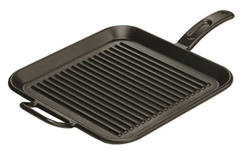 Lodge P12SGR3 Pro Logic Cast Iron Square Grill Pan, Pre Seasoned, 12 Inch