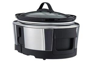 Crock Pot SCCPWM600 V2 Wemo Smart Wifi Enabled Slow Cooker, 6 Quart, Stainless Steel