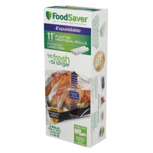 "FoodSaver 11"" Expandable Heat Seal Rolls, 2pk"