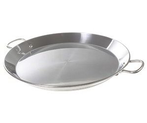 Garcima 16-inch Stainless Flat Bottom Paella Pan, 40cm