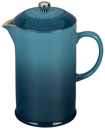 Le Creuset Stoneware 27oz. French Press, Marine