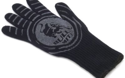 Bull 24134 Pit Mitt The Ultimate BBQ Mitt with Red Silicone