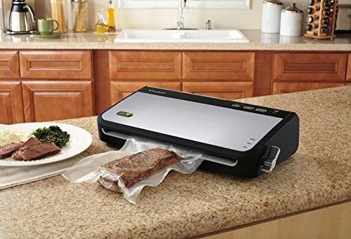 FoodSaver FM2435 ECR Vacuum Sealing System With Bonus Handheld Sealer And Starter Kit, Silver