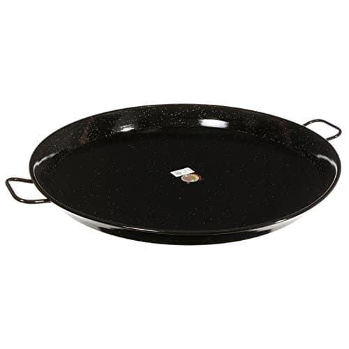 Garcima 32 Inch Enameled Steel Paella Pan, 80cm