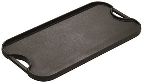 Lodge LPGI3 Cast Iron Reversible Grill/Griddle, 20 Inch X 10.44 Inch, Black