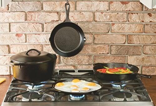 Lodge LCS3 Cast Iron Chef's Skillet, Pre Seasoned, 10 Inch