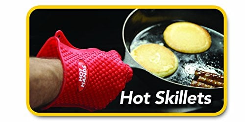Hot Hands Heat Resistant Silicone Gloves Mitts For Grilling, BBQ, Kitchen, Cooking, Baking, Pots, Pans, Smoking And Oven