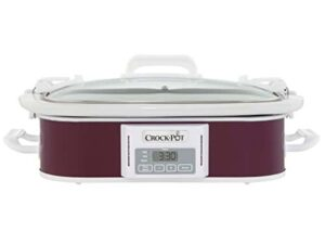 Crockpot SCCPCCP350 CR Programmable Digital Casserole Crock Slow Cooker, 3.5 Quart, Plum