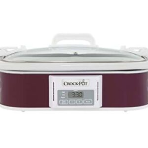 Crockpot SCCPCCP350 CR Programmable Digital Casserole Crock Slow Cooker, 3.5 Quart, Plum