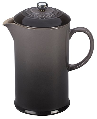 Le Creuset Stoneware 27oz. French Press, Oyster