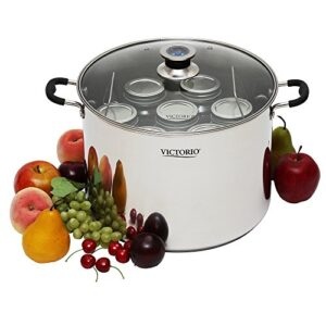 Stainless Steel Multi Use Canner With Temperature Indicator By VICTORIO VKP1130