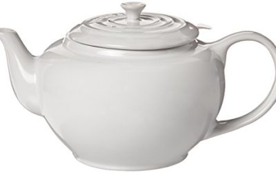 Le Creuset Large Teapot with Stainless Steel Infuser – 1 qt. White Tea Pot