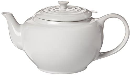 Le Creuset Large Teapot With Stainless Steel Infuser 1 Qt. White Tea Pot