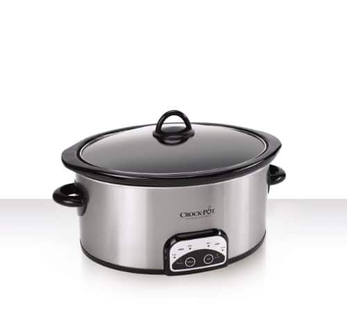Crock Pot SCCPVP600 S 6 Quart Smart Pot Oval Slow Cooker, Stainless Steel
