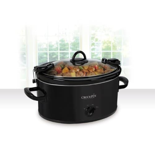 Crock Pot SCCPVL600 B Cook 'N Carry Oval Manual Slow Cooker, 6 Quart, Black