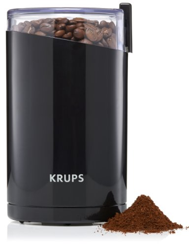 KRUPS F203 Electric Spice And Coffee Grinder With Stainless Steel Blades, 3 Ounce, Black