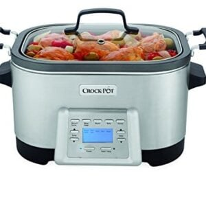 Crock Pot SCCPMC600 S 6 Quart Stainless Steel 5 In 1 Multi Cooker With Non Stick Inner Pot