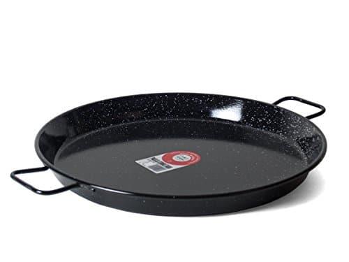 Garcima 22 Inch Enameled Steel Paella Pan