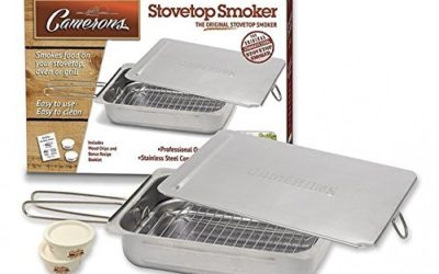 Stovetop Smoker – Stainless Steel Indoor Or Outdoor Smoker Works On Any Heat Source – with Recipe Guide and Wood Chips
