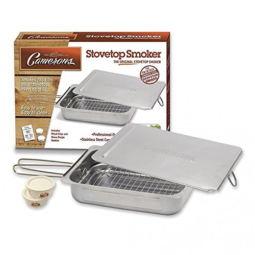 Stovetop Smoker Stainless Steel Indoor Or Outdoor Smoker Works On Any Heat Source With Recipe Guide And Wood Chips