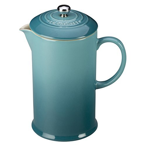 Le Creuset Stoneware 27 Ounce French Press, Caribbean