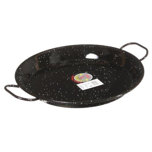 Garcima 12 Inch Enameled Steel Paella Pan, 30cm