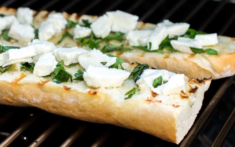 Garlic Bread On Grill