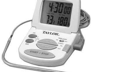 """Taylor Precision Products 1470N Oven Thermometer, With Meat Probe & Timer, Digital, Magnetic, 2 """"AAA"""""""