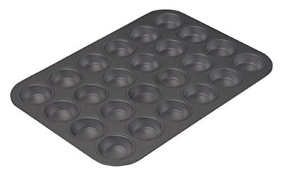 Chicago Metallic Commercial II Nonstick Aluminized Steel 15.75 x 11 in. 24 Cup Mini Muffin Pan