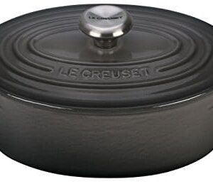 Le Creuset Signature Enameled Cast Iron 1 Quart Oval (Dutch) French Oven, Oyster