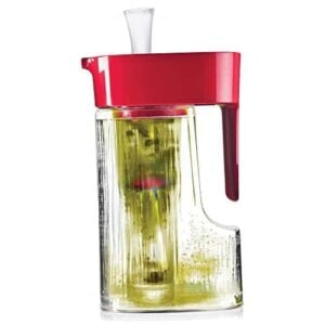 Primula Flavor Now 2.7 Quart Pitcher With Instant Infuser, Flavor Wand And Chill Core, Cherry