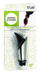 Duo Bottle Stopper And Pour Spout In Black By True