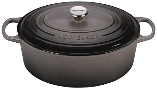 Le Creuset Signature Enameled Cast Iron 9.5 Quart Oval French (Dutch) Oven, Oyster
