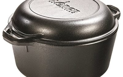 Lodge L8DD3 Double Dutch Oven and Casserole with Skillet Cover, 5-Quart