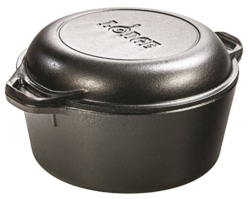Lodge L8DD3 Double Dutch Oven And Casserole With Skillet Cover, 5 Quart
