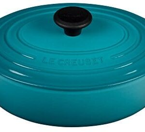 Le Creuset Enameled Cast Iron Signature Oval Dutch French Oven, 2 3/4 Quart, Caribbean