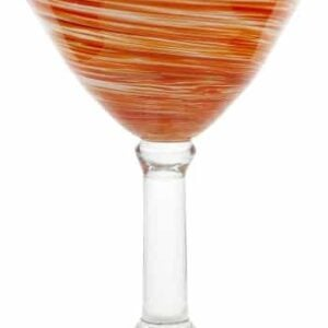 Impulse Galaxy Martini Hand Crafted Glass, Orange, Set Of 4